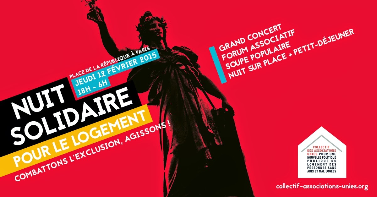 Nuit Solidaire Pour Le Logement : Dias Solidaire!