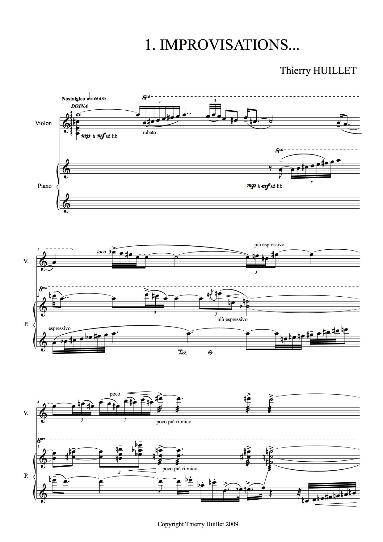 Thierryhuillet Sonate2violin Scoreviolinpart2