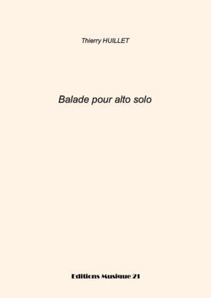 Huillet: Balade, For Solo Viola