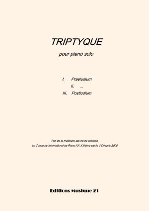 Huillet: Triptyque, For Solo Piano