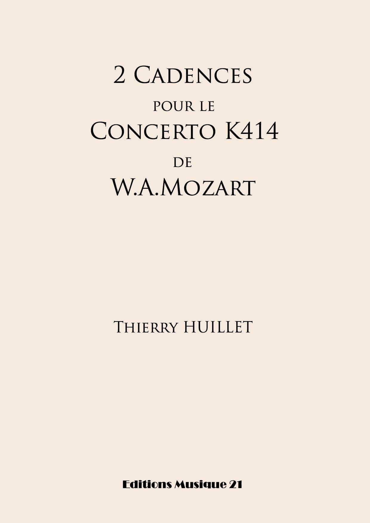 2 Cadences For Mozart's Concerto K414