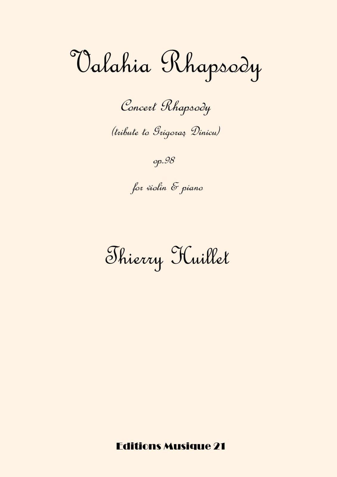 Valahia Rhapsody, for violin and piano