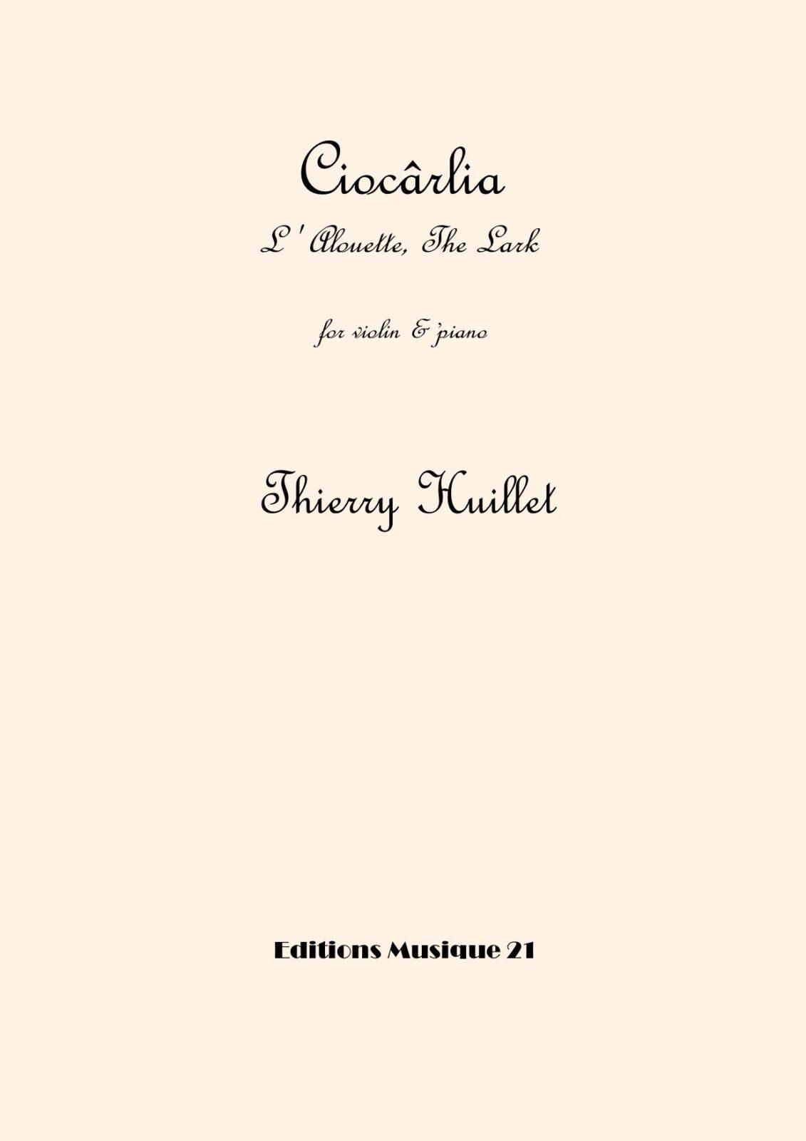 Ciocârlia (The Lark), for violin and piano